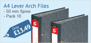75% off A4 Lever Arch Files
